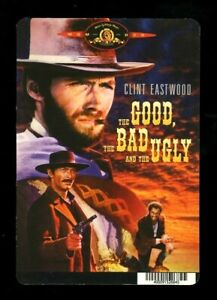 THE GOOD, THE BAD & THE UGLY - BLOCKBUSTER BACKER CARD/MINI POSTER (NOT A MOVIE)