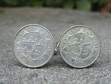 1/4 Dutch Gulden Coin Cufflinks--Dutch East Indies WWII Colonial Indonesia