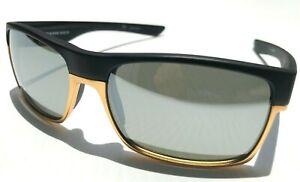 Oakley TWO FACE Black Matte Gold Polarized Galaxy Chrome Mirror Sunglass 9189