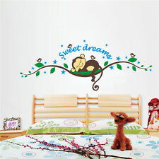 Kids Baby Room Animals Tree Monkey Removable Wall Decal Stickers Nursery Decor