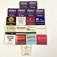 19 Vintage Las Vegas Matchbooks Unstruck DIamond Universal American Columbia