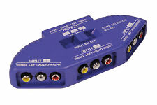 Electro AV RCA phono Interruttore 3 vie audio/video TV DVD Selettore Input Multi Box