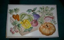 Antico recuperata 3D fatti a mano dipinti a mano Piastrelle VEGETALE/Zucca RRP £ 100