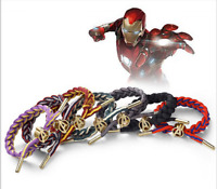 The Avengers Thor Iron Man Thanos Spider-man Shoelace Bracelet Hand-Knitted Gift