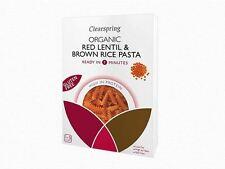 Clearspring organico rosso lenticchie & RISO INTEGRALE FUSILLI PASTA 250g (pacco da 8)