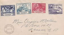 1949 Bahamas #150-3 (not FDC) on cover; ship, map,UPU set topical *d