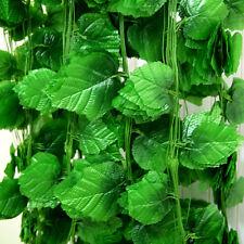 12* Artificial grape Ivy vine faux Leaves Garland Plant Fake Foliage Green A33