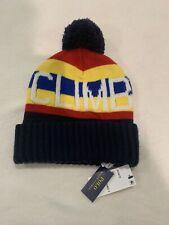 POLO RALPH LAUREN Men's Pom Pom Beanie Hat, Skull Ski Cap NWT