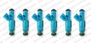 Set of 6 Bosch 0280155972 injector 02-03 Dodge Ram 1500 3.7L Powertech 53031099