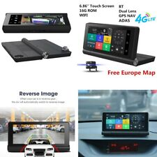 "6.86"" Touch Screen WI-FI 4G Car DVR Video Recorder Europe GPS + Rear Cameras"