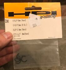 HPI Racing Savage X/XL/Flux C-Clip 8mm (4 Pcs.) HPIZ240 Brand New in package