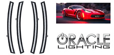 Clear Front & Rear LED Side Marker Lights For 2014-2019 C7 Corvette