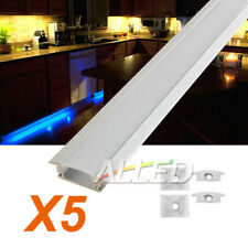 5X1M/100CM Extrusion Alloy Channel Bar for LED Strip Light Under Cabinet Kitchen
