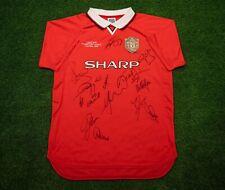 Manchester United Signed Shirt 1999 Treble Winners Genuine Signatures AFTAL COA