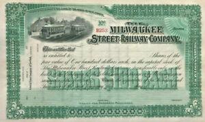 The Milwaukee Street Railway Company > Wisconsin rail stock certificate