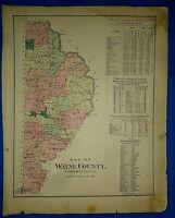 OLD IRELAND IRISH MAP Genealogy McEghan McElliot McFurbis McGauran SURNAMES BIG