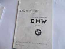Spare parts list Catalog Motorcycle BMW R24 R 24 250 cc off 1949