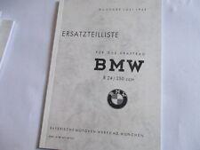 Ersatzteilliste Katalog Motorrad BMW R24 R 24 250 ccm ab 1949 Ersatzteilkatalog