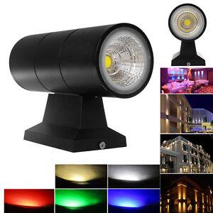 6 Coloured 6W / 10W Up Down Double Head Wall Light COB IP65 Outdoor Garden Light