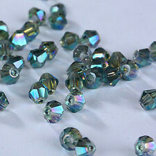 Hot  #5301 jewelry 3mm Glass Crystal Bicone bead 1000pcs Transparent green