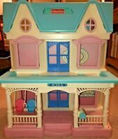 Labor Day VINTAGE 1993 FISHER PRICE DOLL HOUSE CLEAN COMPLETE KIDS SCHOOL TOYS