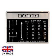 Calcomanía de cambio de marcha cabe Ford 4000 5000 7000 4600 tractores.