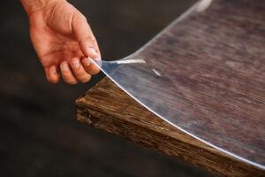 Schutzfolie Glasklar Tischfolie Tischdecke Tischschutz Folie transparent 2.5 mm