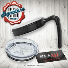 Tumbler Lid & Handle Holder for Spill Splash YETI Rambler Ozark 20 oz Cup - KLAW