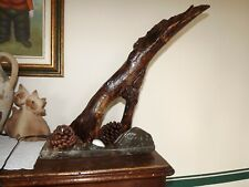 Lampada in legno fatta a mano in Maremma