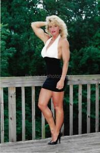 FITNESS MODEL 80's 90's FOUND PHOTO Color PRETTY WOMAN Original EN 17 1 R