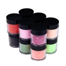 12 Colors Acrylic Nail Art Tips UV Gel Powder Dust Design Decoration 3D Manicure