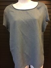 ANN TAYLOR Women's blue Casual Career Top Blouse Large