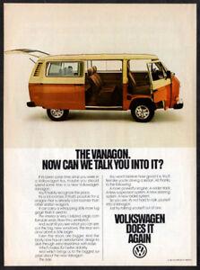 1981 VOLKSWAGEN Vanagon Vintage Original Print AD - White & Red van photo USA