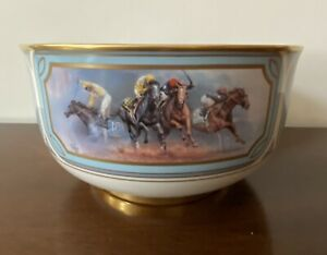Fred Stone Triple Crown Bowl Ltd. Edition Pickard China Derby Horse Races