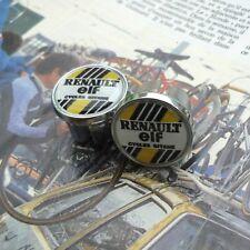 Vintage Style, 80s, Renault Elf Team, Chrome Racing Bar Plugs, Caps, Repro
