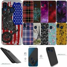 For [Samsung Galaxy A01 (2020)][EMBOSSED DUO SET12] Shock Combat Case