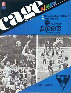 VINTAGE 1968  ABA PITTSBURGH PIPERS  PROGRAM RARE!!