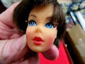 1960's Vintage Head for Barbie Doll Brunette Hair Japan l L5.15.21