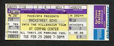2000 Backstreet Boys concert ticket Houston TX Into The Millennium Tour