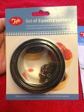 Tala - 3 Pastry Cutters - New