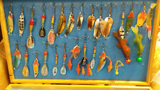 45 assorted fishing lures in box