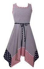 Bonnie Jean Plus Girl's Festive Americana Fit & Flare Dress-Size-16 1/2
