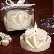 100 Pretty Interlocking Hearts Candle Holder Design Wedding Favor Event Bulk Lot