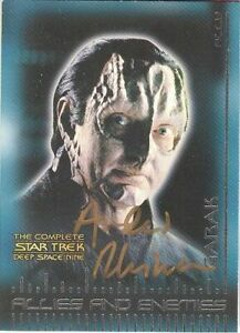 2003 Complete Star Trek Deep Space Nine B5 Andrew Robinson As Garak AUTOGRAPHED!