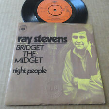 "DISQUE 45T DE RAY STEVENS  "" BRIDGET THE MIDGET """