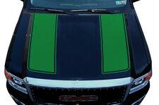 Custom Vinyl Graphics Decal Wrap Kit fits 14-17 GMC Sierra RACING STRIPES Green