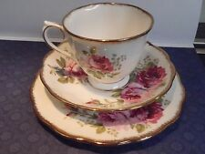 Vintage Royal Albert American Beauty Trio (Cup Saucer Plate) English Quality