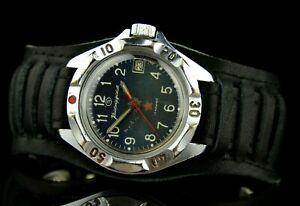 VOSTOK KOMANDIRSKIE 2414A Commander Soviet Mechanical Military Wristwatch USSR☭