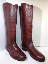 Frye a Women's Size 8.5 Melissa Button 2 Tall Brown Leather Riding Boots FB-519