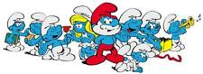 Classic Characters The SMURFS Promotional Group Image Window Cling Sticker Decal